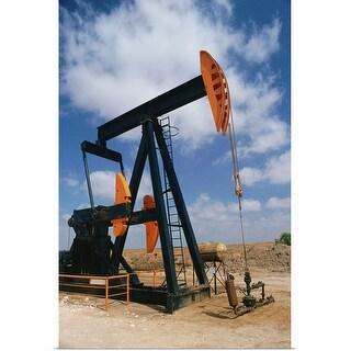 """""""Oil pump"""" Poster Print"""