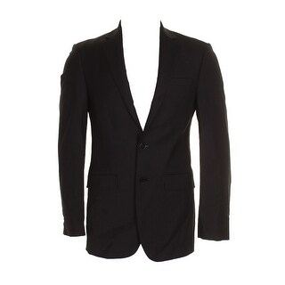 Calvin Klein Black Slim Fit Jacket Single Breasted Notched Lapel Blazer 40S