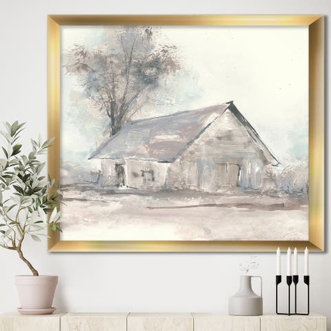Designart 'Farmhouse Barn Grey III' Modern Farmhouse Framed Art Print