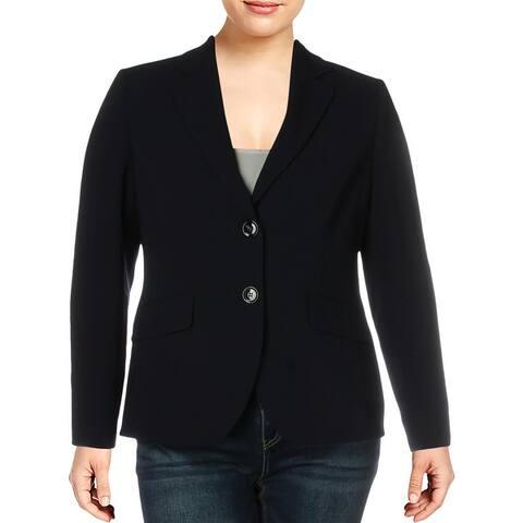Basler Womens Two-Button Blazer Knit Office