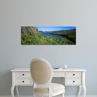 Easy Art Prints Panoramic Images's 'Porcupine Mountains Wilderness State Park, Ontonagon County, Michigan' Canvas Art