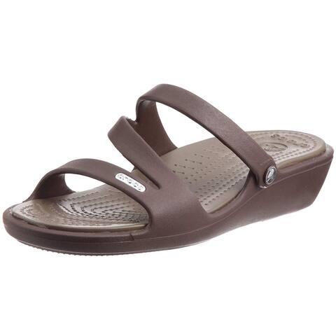 8cc2bf40d887 Crocs Womens PATRICIA Rubber Casual Slide Sandals