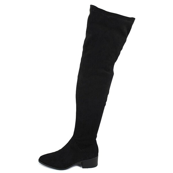 Steve Madden Womens gabriana Suede Pointed Toe Over Knee Fashion Boots