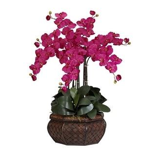 Nearly Natural Large Phalaenopsis Silk Flower Arrangement