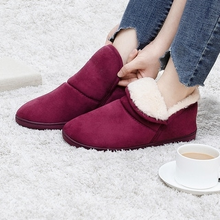 Link to VONMAY Women's Plush Warm Ankle Bootie Slippers Indoor/Outdoor Boots Similar Items in Slippers, Socks & Hosiery