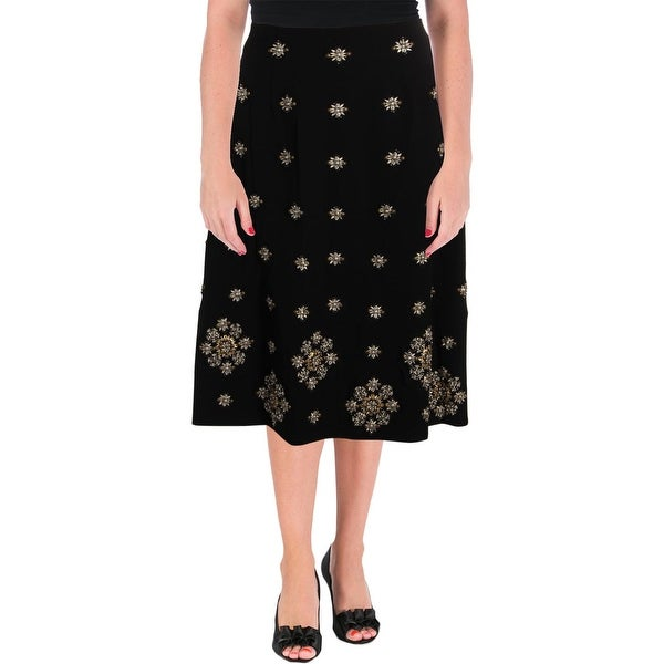Elizabeth and James Womens Lottie Midi Skirt Embellished Night Out