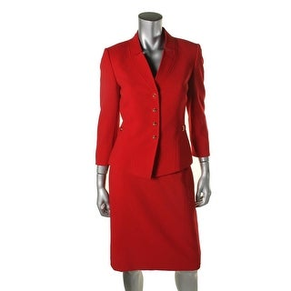 Tahari ASL Womens Joseph Crepe 2PC Skirt Suit