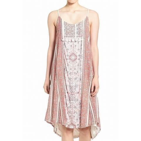 Lucky Brand White Womens Size Small S Border Print Shift Dress