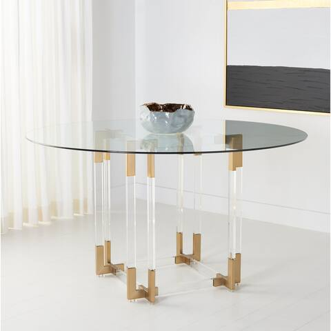 SAFAVIEH Couture Koryn Acrylic Dining Table
