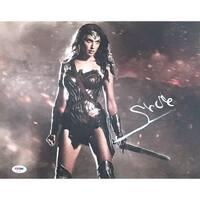 Gal Gadot Autographed Wonder Woman Movie Signed 11x14 Photo PSA DNA COA
