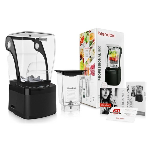 Blendtec Professional 800 Blender w/ BPA-Free WildSide Jar + Blending 101 Quick-Start Guide and Recipes + Owner's Manual + Guide