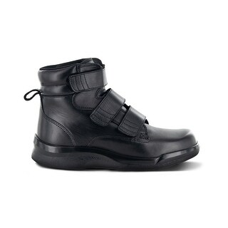 Apex Mens Triple Strap Leather Closed Toe Ankle Fashion Boots - 9.5