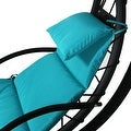 Sunnydaze Floating Chaise Lounger Swing Chair with Canopy Umbrella, 43 Inch Wide x 80 Inch Tall - Thumbnail 4
