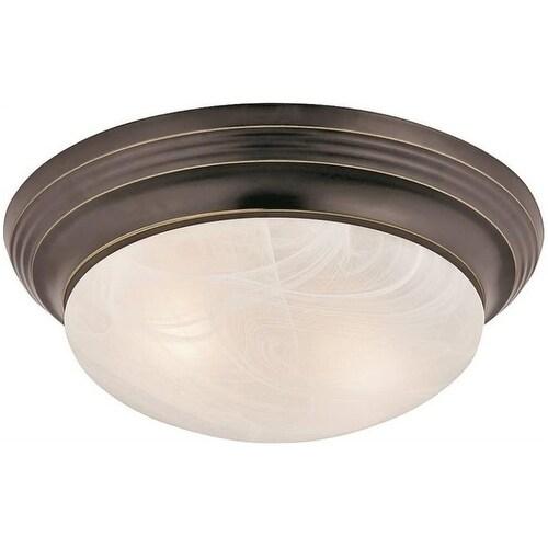 Boston Harbor 563116VB 2 Light Flushmount Ceiling Fixture, Venetian Bronze