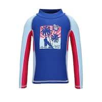 Sun Emporium Baby Boys Blue Red Vintage Surfer Long Sleeve Rash Shirt