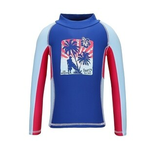 Sun Emporium Little Boys Blue Red Vintage Surfer Long Sleeve Rash Shirt