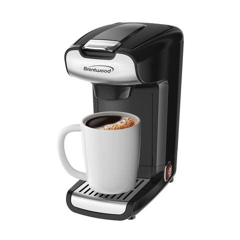 Brentwood 10 Ounce K-Cup Single Serve Coffee Maker in Black