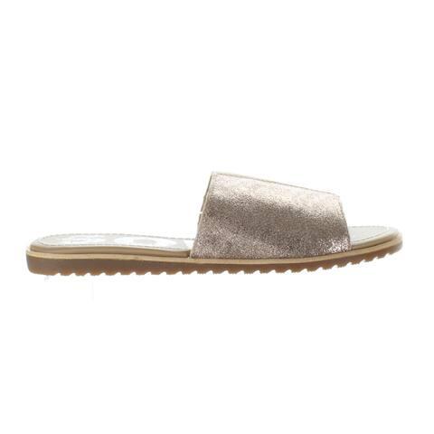 SOREL Womens Ella Natural Tan Slides Size 6
