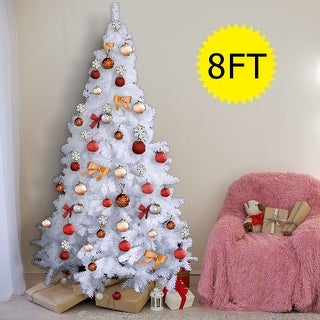 Costway 8Ft Artificial PVC Christmas Tree W/Stand Holiday Season
