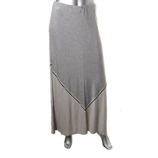 Studio M Womens Heathered Stripe Maxi Skirt - XL