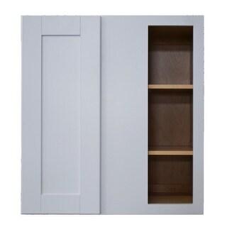 "Sunny Wood SHW3030BC-A Shaker Hill 27"" x 30"" Blind Corner Wall Cabinet - designer white"