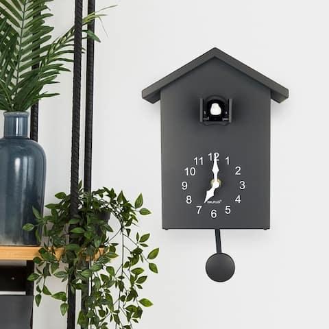 Walplus Grey Minimalist Cuckoo Table Clock 4 changeable birds