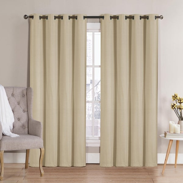 """Nathan Solid Room Darkening Window Curtain Panels 63"""" 84"""" 90"""" Multiple Colors. Opens flyout."""