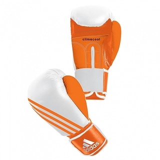Adidas Box-Fit Hook and Loop Boxing Bag Gloves - White/Orange