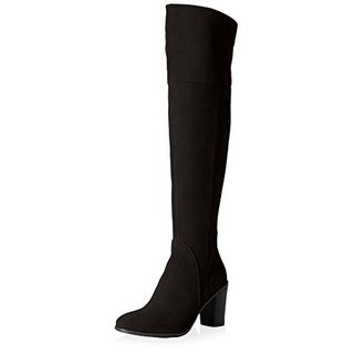 Butter Womens Dodge Over-The-Knee Boots Suede Heels