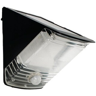 Solar Powered Motion Activated Wedge Light, Black