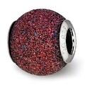 Italian Sterling Silver Reflections Purple Laser Cut Bead (4mm Diameter Hole) - Thumbnail 0