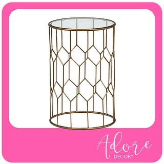 Link to Adore Decor Harper Side Table, Gold Similar Items in Living Room Furniture