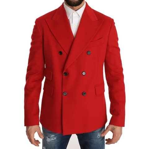 Sport Coat Blazer Red Cashmere Men's Jacket
