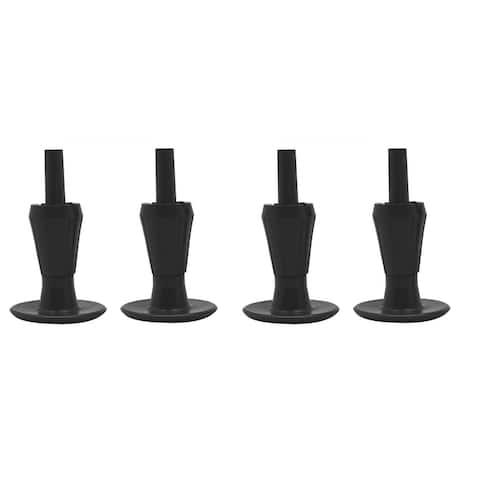Black Plastic Bedframe Glides (Set of 4)