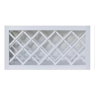 """Sunny Wood SHW3015WR  Shaker Hill 30"""" x 15"""" Wine Bottle Rack Wall Cabinet - Designer White"""