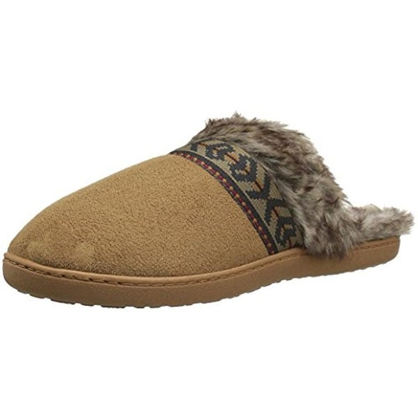 Northside Womens Sydra Scuff Slippers Faux Suede Faux Fur Lined