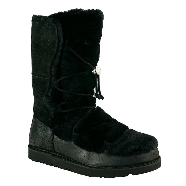 0a01f4bf7ab80c Shop Birkenstock Nuuk Suede Leather/Fur Boots - On Sale - Free Shipping  Today - Overstock - 25071326