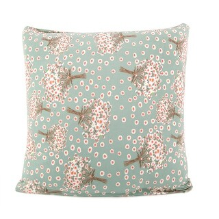 """Square Throw Pillow Case Cushion Cover Home Sofa Decorative Blue Hyacinth Pattern 18"""" x 18"""""""