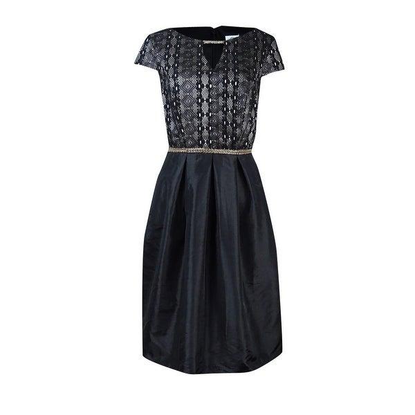 Shop Sangria Womens Embellished Keyhole A Line Dress Blackstone