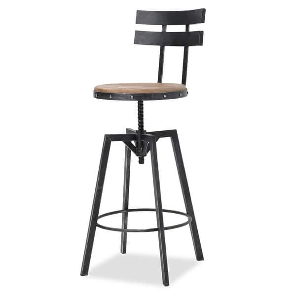 Jutte Rustic Iron Adjustable Bar Stool By Christopher Knight Home N A On Sale Overstock 14014283