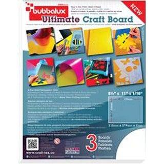 "Arctic White - Bubbalux Ultimate Creative Craft Board 8.5""X11"" 3/Pkg"