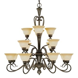 Millennium Lighting 6016 Devonshire 16 Light Three Tier Chandelier - Burnished Gold