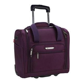 """Travelers Club  TPRC 15"""" Underseater USB Port Carry-On Luggage Purple - US One Size (Size None)"""