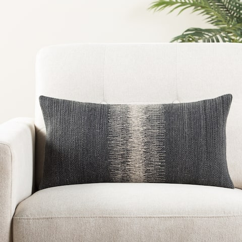 The Curated Nomad Otis Ombre Black/ Grey Throw Pillow