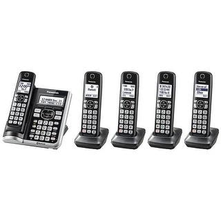 Panasonic KX-TGF575S Link2Cell BluetoothCordless Phone with Voice Assist and Answering Machine - 5 Handsets|https://ak1.ostkcdn.com/images/products/is/images/direct/cc8c06a5d1f856a7d64e50af1c369488e46c3c5d/Panasonic-KX-TGF575S-Link2Cell-BluetoothCordless-Phone-with-Voice-Assist-and-Answering-Machine---5-Handsets.jpg?impolicy=medium