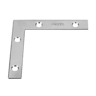 "Stanley 30-6040 Zinc Plated Flat Corner Brace, 3"""