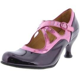John Fluevog Womens Pearl Hart Patent Leather Dress Mary Jane Heels