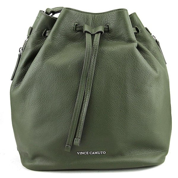 3281b1ae75bd Shop Vince Camuto Gabe Drawstring Bag Leather Hobo - Green - Free Shipping  Today - Overstock - 16186493
