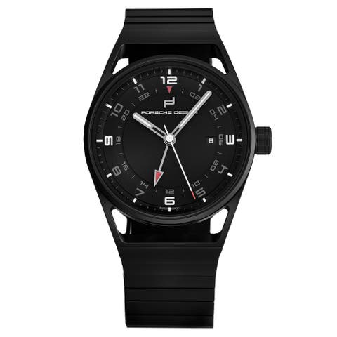 Porsche Men's 6020.2.02.001.02.2 '1919 Globetimer' All Black All Titanium Automatic Watch