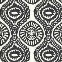 Brewster HZN43032 Marrakech Black Medallion Stripe Wallpaper - N/A
